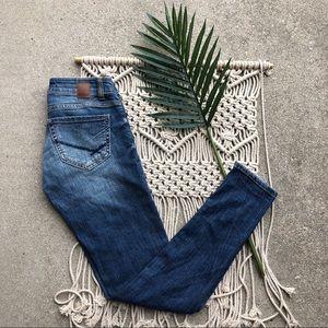 BKE Stella Ankle Skinny Jeans Buckle Denim Size 24